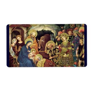 Adoration of  Magi (c1370-1427) Magi in Adoration Label