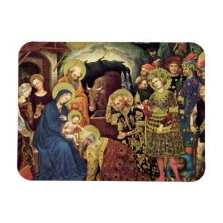 Adoration of  Magi (c1370-1427) Magi in Adoration Magnet