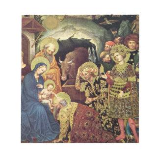 Adoration of  Magi (c1370-1427) Magi in Adoration Notepad