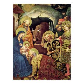 Adoration of  Magi (c1370-1427) Magi in Adoration Postcard