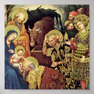 Adoration of  Magi (c1370-1427) Magi in Adoration Poster