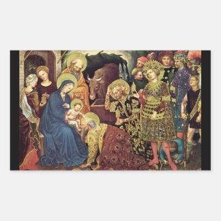 Adoration of  Magi (c1370-1427) Magi in Adoration Sticker