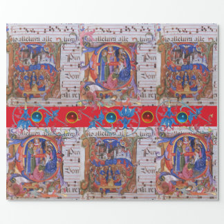ADORATION OF MAGI CHORAL MUSIC CHRISTMAS PARCHMENT WRAPPING PAPER