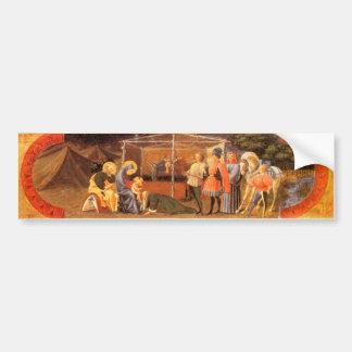 ADORATION OF MAGI Christmas Bumper Sticker