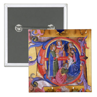 ADORATION OF MAGI CHRISTMAS NATIVITY PARCHMENT PIN
