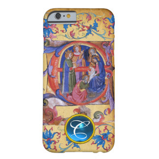 ADORATION OF MAGI CHRISTMAS PARCHMENT MONOGRAM BARELY THERE iPhone 6 CASE
