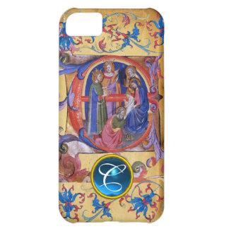 ADORATION OF MAGI CHRISTMAS PARCHMENT MONOGRAM CASE FOR iPhone 5C