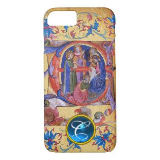 ADORATION OF MAGI CHRISTMAS PARCHMENT MONOGRAM iPhone 8/7 CASE