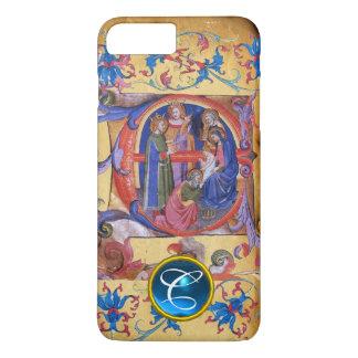 ADORATION OF MAGI CHRISTMAS PARCHMENT MONOGRAM iPhone 8 PLUS/7 PLUS CASE