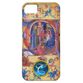 ADORATION OF MAGI CHRISTMAS PARCHMENT MONOGRAM iPhone SE/5/5s CASE