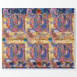 ADORATION OF MAGI FLORAL CHRISTMAS PARCHMENT GIFT WRAP