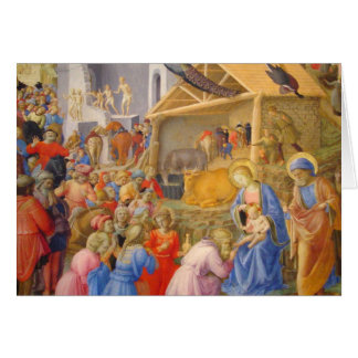 Adoration of Magi Fra Angelico Card
