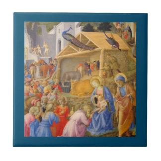 Adoration of Magi Fra Angelico Ceramic Tile