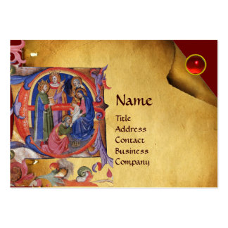 ADORATION OF MAGI NATIVITY CHRISTMAS PARCHMENT LARGE BUSINESS CARDS (Pack OF 100)