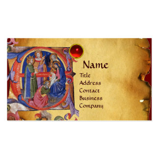ADORATION OF MAGI NATIVITY CHRISTMAS PARCHMENT Double-Sided STANDARD BUSINESS CARDS (Pack OF 100)