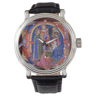 ADORATION OF MAGI NATIVITY CHRISTMAS PARCHMENT WRIST WATCHES