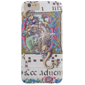 ADORATION OF MAGI , NATIVITY MONOGRAM WITH DOLPHIN BARELY THERE iPhone 6 PLUS CASE