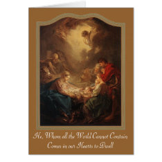 Adoration Of Shepherds - Boucher 1750, He, Whom... Card at Zazzle