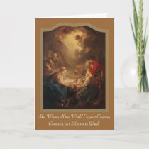 Adoration of Shepherds - Boucher 1750, He, Whom... Holiday Card