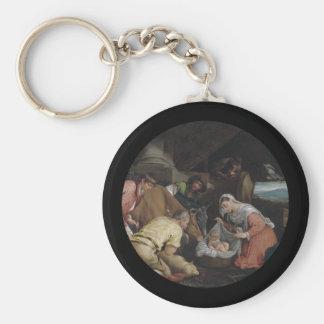 Adoration of Shepherds Keychain