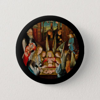 Adoration of the Angels Button