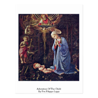 Adoration Of The Child By Fra Filippo Lippi Postcard