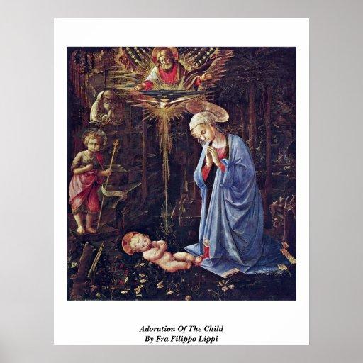 Adoration Of The Child By Fra Filippo Lippi Poster