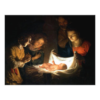 Adoration of the Child Jesus - Honthorst Flyer