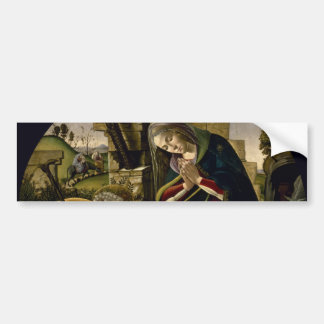 Adoration of the Christ Child by Botticelli Bumper Sticker