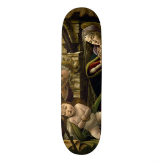 Adoration of the Christ Child by Botticelli Skateboard Deck