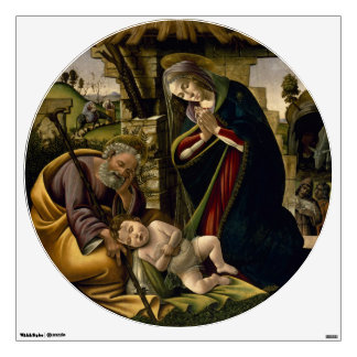 Adoration of the Christ Child by Botticelli Wall Decal