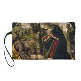 Adoration of the Christ Child by Botticelli Wristlet Purse