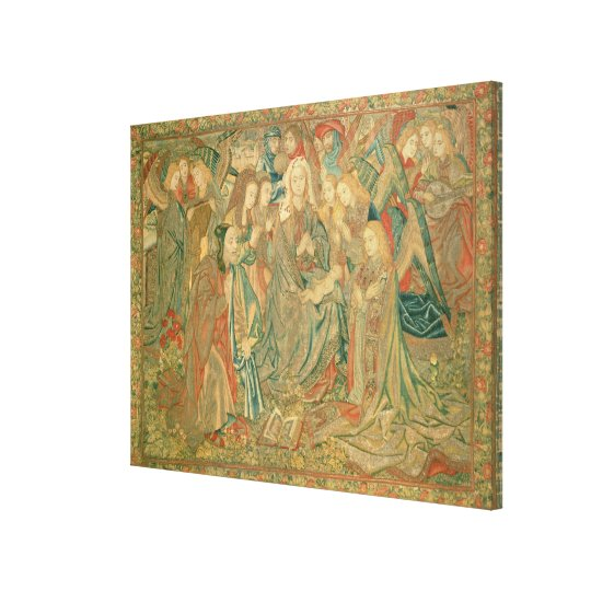 Adoration of the Christ child  (Tapestry) Canvas Print