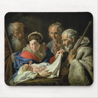 Adoration of the Infant Jesus Mouse Pad