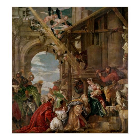 Adoration of the Kings, 1573 Poster