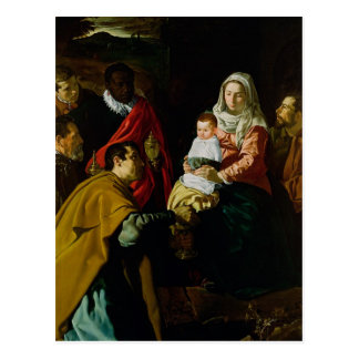 Adoration of the Kings, 1619 Postcard