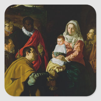 Adoration of the Kings, 1619 Square Sticker