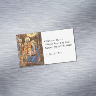 Adoration of the Kings  (Adorazione dei Magi) Magnetic Business Card