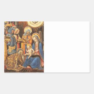 Adoration of the Kings  (Adorazione dei Magi) Rectangular Sticker