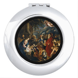 Adoration of the Kings by Ruben Compact Mirror