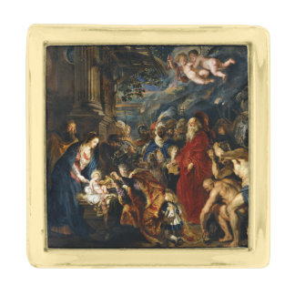 Adoration of the Kings by Ruben Gold Finish Lapel Pin