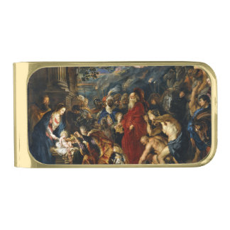 Adoration of the Kings by Ruben Gold Finish Money Clip