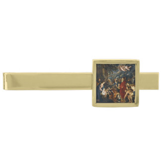 Adoration of the Kings by Ruben Gold Finish Tie Bar