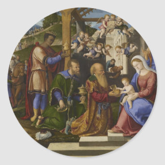 Adoration of the Kings Classic Round Sticker