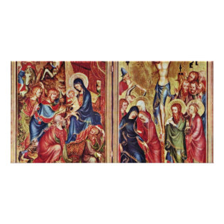 Adoration Of The Kings Right Wing  By Meister Des Custom Photo Card