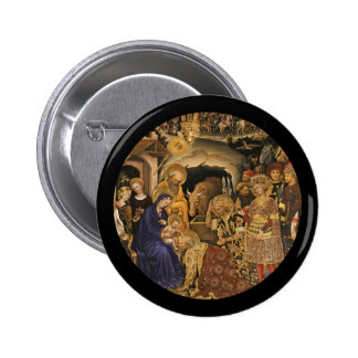 Adoration of the Magi 14th century Pinback Button