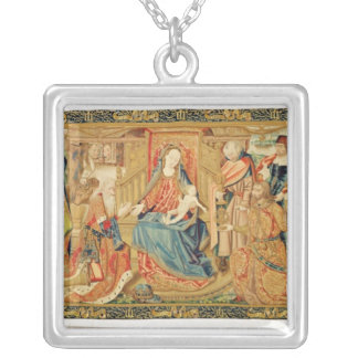 Adoration of the Magi, 15th-16th century Silver Plated Necklace