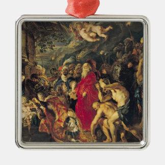 Adoration of the Magi, 1610 Metal Ornament