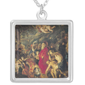 Adoration of the Magi, 1610 Silver Plated Necklace