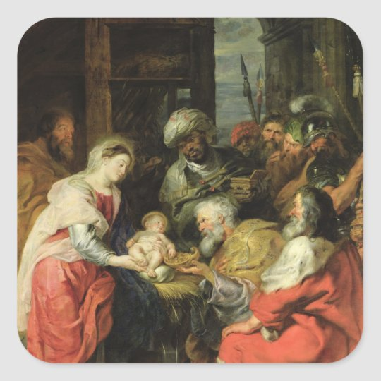 Adoration of the Magi, 1626-29 Square Sticker